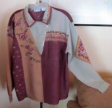 Vintage 90's QPS (Spiegel) Women's Blouse Med Long Sleeve - EUC - Beautiful