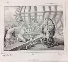 ARTE_ANTICA SCENA BIBLICA_COSTRUZIONE DELL'ARCA DI NOE'_LITO WENZEL DA RAFFAELLO