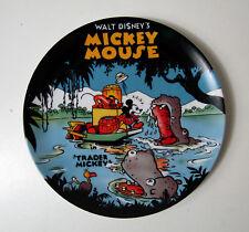 assiette plate Mickey Disney vintage avec son support