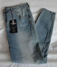 Marks and Spencer Cotton Faded Plus Size Jeans for Women
