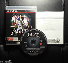 Alice Madness Returns (Sony PlayStation 3, 2011) PS3 - VGC - Australian Release
