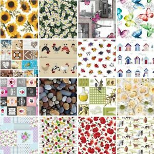 Tablecloth Vinyl PVC Easy Wipe Clean Food, Animals, Floral, Sunflowers, Poppies