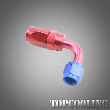 AN6 90 Degree Swivel Hose End Fitting Adapter Red& Blue Aluminum