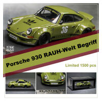 Adidas&Model Collect 1:64 Porsche 930 Ducktail Wing RAUH-Welt Begriff Car Model