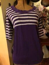 Old Navy Maternity Ladies Sweater Strip Purple & Grey