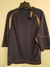 NOS Fox Freeride 1/2 Sleeve T-Shirt w/ Tags...Navy...Fox Bike...Bicycle...Large