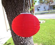 "12"" Diameter Fabric Round Oval Hanging Red Lantern"