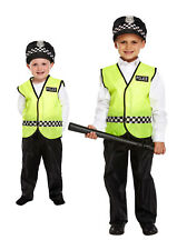 BOYS POLICEMAN FANCY DRESS COSTUME CHILD POLICE CONSTABLE KIDS UNIFORM OUTFITS