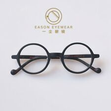 Round eyeglasses Retro mens glasses black cricle frame rx optical eyeglasses