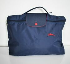 New Authentic LONGCHAMP LE PLIAGE DOCS Navy Nylon Short Handle TOTE LAPTOP Bag