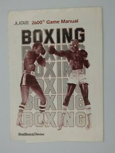 Manual Only Atari 2600 Boxing Game Booklet Manual UK