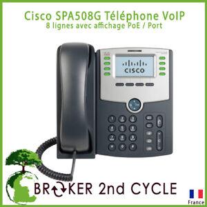 Cisco SPA508G Téléphone VoIP 8 lignes avec affichage PoE / Port