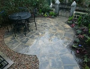 Paving circle rotunda for garden patio slab stone feature 2.55M. Free deliver