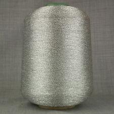 SILVER LUREX METALLIC GLITTER YARN BIG 500 gram CONE MACHINE KNITTING SPARKLE