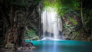 BEAUTIFUL WATERFALL PHOTO FREE PHOTO PICTURE VIRTUAL FILE JPG 6K POSTCARD au#01