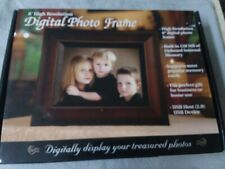 """8"""" ADS Digital Photo Frame & MP3 Player w/ Remote Control~Wood Colored Frame~New"""