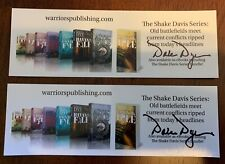 Pair of Two Dale Dye Marine Vietnam Band of Brothers Signed Bookmarks