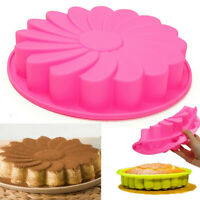 9'' Silicone Flower Cake Chocolate Bread Mould Mold Bakeware Pan Baking Tool ❤