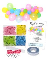 PINK PASTEL Unicorn Party Balloon Cloud Garland Making Kit-No Helium Required