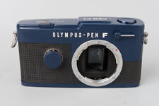 Olympus Pen F FT Half Frame Film Camera Body Only, Unique Blue Paint Colour
