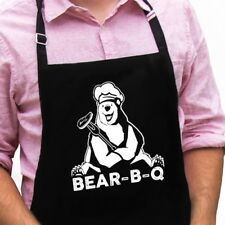 Bear-B-Q Funny Novelty Apron Gift for Dad, Husband, Father's Day Grandpa Apron