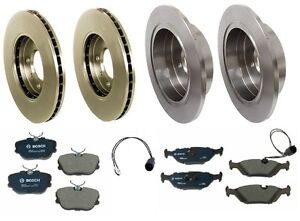 For BMW E30 318i 318is 325i 325is Complete Brake KIT Rotors Pads Sensors Premium