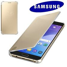 Clear View Cover Originale Samsung Galaxy A5 A510 2016 Custodia Slim ORO GOLD