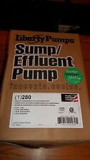 Liberty 280 Series 1/2 hp Effluent Sewage Wastewater Sump Pump, Energy Saver