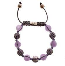 NWT NIALAYA Authentic Women's Amethyst 925 Sterling Silver Bracelet s. M