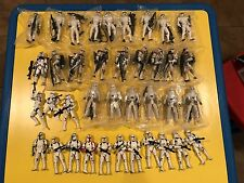 """Star Wars Clone Arc Snow Storm Trooper 3.75"""" Army Builder Lot of 38 complete"""