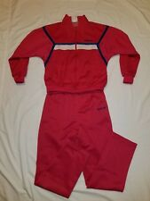 Adidas Track Suit 2PC Jacket & Pants Pink/blue SZ M Trefoil Firebird Vintage