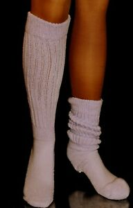 Long Slouch Knee Scrunchie hooters uniform Socks Scrunch heavy large school