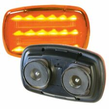 CUSTER AMBER LED BATTERY POWERED MAGNETIC SAFETY LIGHT HF18A-PHD - *HEAVY DUTY*