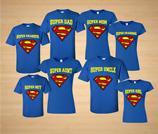 SUPERMom And SUPERDad Family SUPERMAN LOGO MATCHING FAMILY T-Shirts