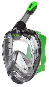 Seac Magica Vollgesichtsmaske,Gr. L/XL Schnorchelmaske schwarz/grün