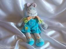 Doudou cheval, âne salopette bleue, Nicotoy, Blankie/Lovey/Newborn toy