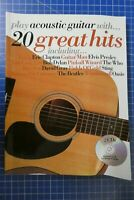 play acoustic guitar with 20 Great Hits Wise Publication 2003 mit 2 CD H-301