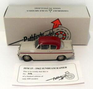 Pathfinder Models 1/43 Scale PFM15 - 1962 Sunbeam Rapier 1 Of 600 Grey/Maroon