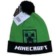 Boys Girls Kids Children Gamer Minecraft Warm Knitted Winter Hat 4-12 Years