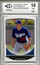 COREY SEAGER Dodgers 2013 Bowman Draft Top Pros rookie BGS BCCG 10 MINT graded