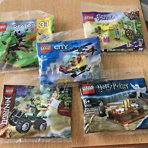 lego polybag bundle of 5 Inc Lego 30420-30413-30539-30578-30566 collector gift
