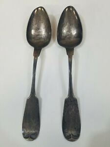 TWO AMERICAN KITTS & WERNER KENTUCKY COIN SILVER SPOONS