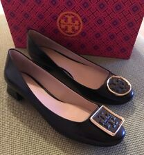 Tory Burch RARE Black Twiggie Boxcalf Kitten Pumps Sz 8 w/Box MSRP $265 SOLD OUT