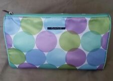 New CLINIQUE Cosmetic Make Up Bag Travel Bag Circles Purple Green Blue Large bag