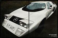MERCEDES C 111  L' EVENEMENT DU SALON + FICHE TECHNIQUE  CAR AD  1969