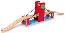 Eisenbahn-Brücke Holz Doppellift inkl. 2 Anschlussgleisen ca. 80 x 11 x 22 cm