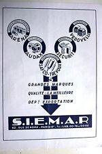 Pub 1948 S.I.E.M.A.R Matériel électrique Paris