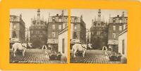 Francia Burdeos la Puerta Del Palacio, Foto Estéreo Vintage Analógica PL62L10
