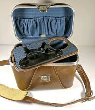 Vintage Marsand Brown Leather Camera Bag with Strap And Insert