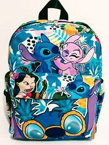 "Disney Lilo and Stitch Purse Backpack Mini 12"" Bag  Art Print B-Day Gift Face"